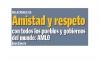 Relaciones de amistad y respeto con todos los pueblos y gobiernos del mundo: AMLO / Presidente López Obrador  Inicia entrega universal de Pensión para Adultos Mayores