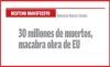 DESTINO MANIFIESTO 30 millones de muertos, macabra obra de EU