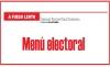 A FUEGO LENTO Menú electoral