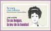 Se cura con cultura: Jane Austen