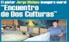 """El pintor Jorge Maluna inaugura mural """"Encuentro de Dos Culturas"""""""
