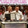 Por el país se debe trabajar en equipo y sin distingos de colores ni partidistas: Gobernador Alejandro Moreno Cárdenas